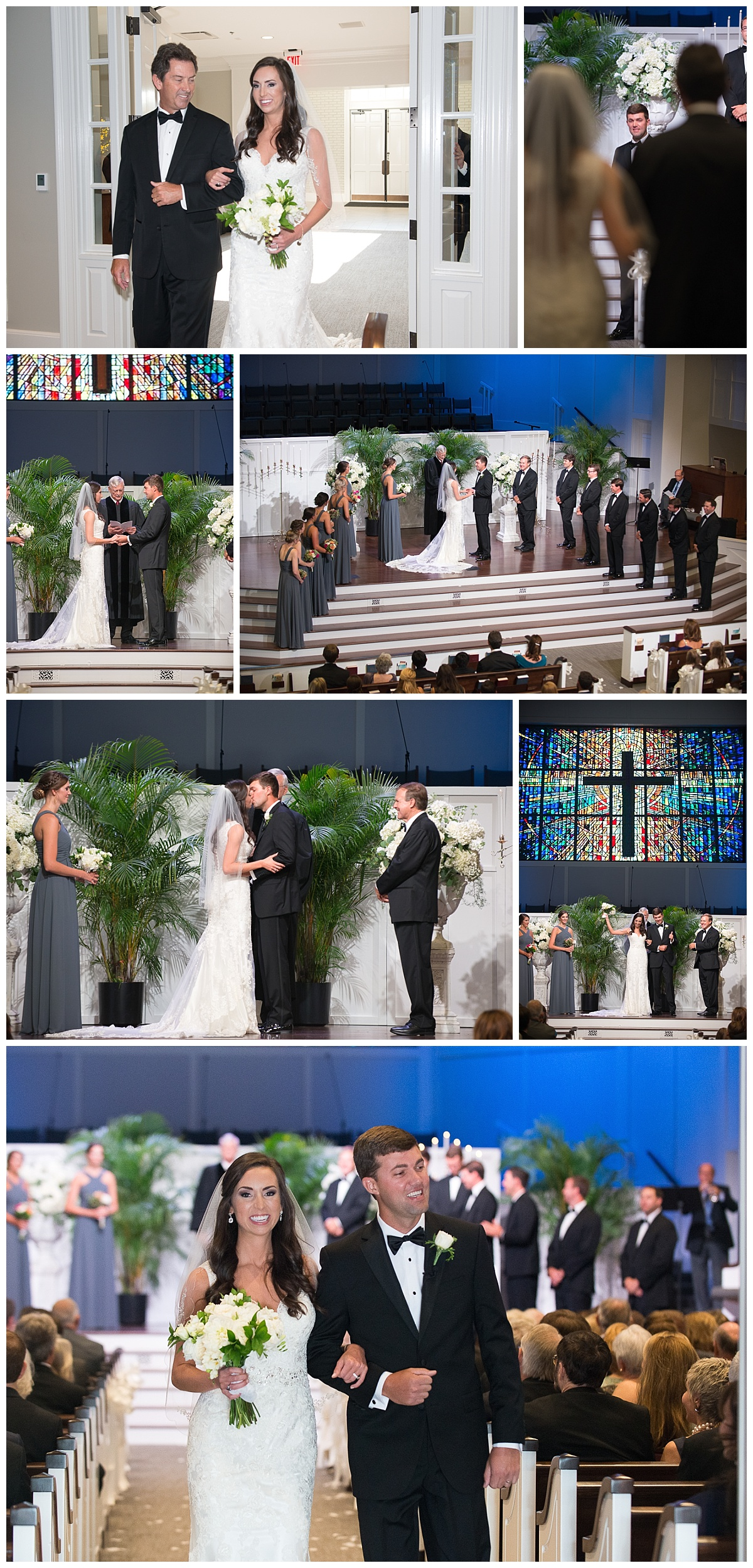 Wedding ceremony at NE Presbyterian church