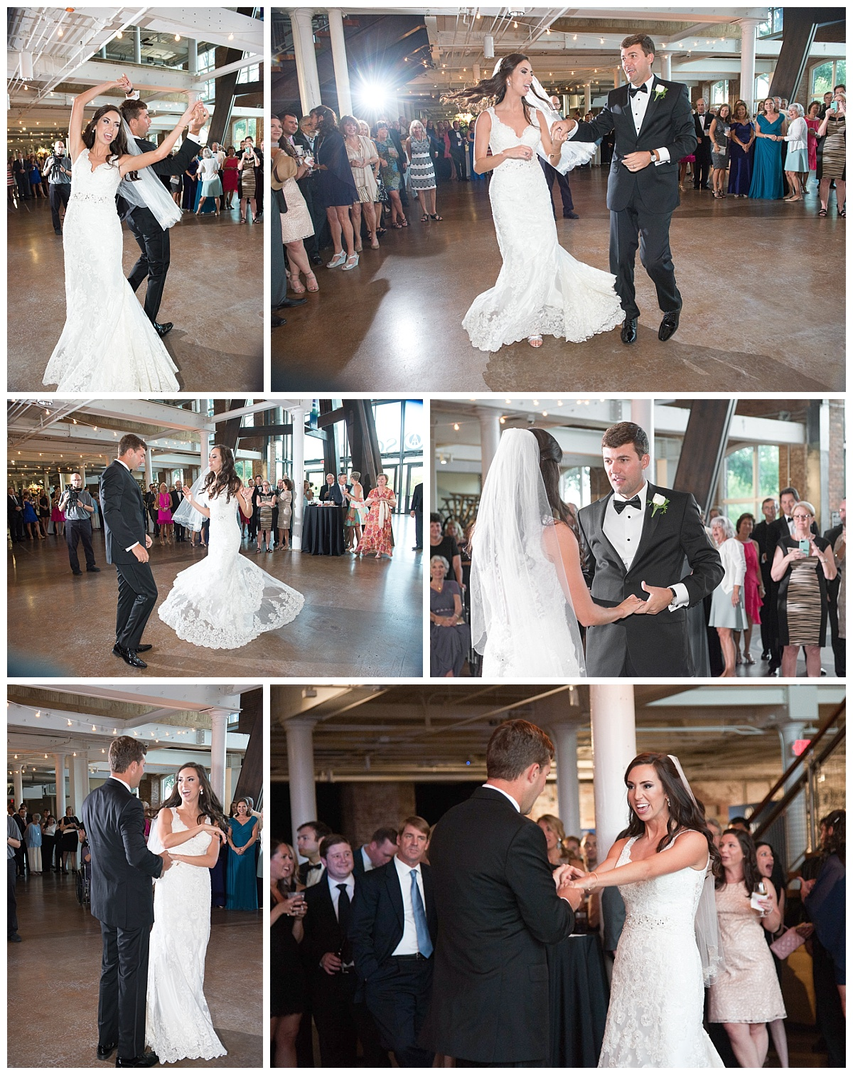 Bride and groom dance at SC State Museum