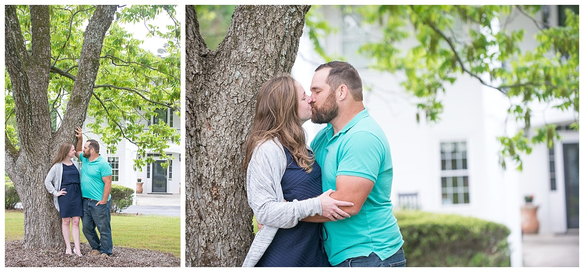 kiss in front of corley mill house