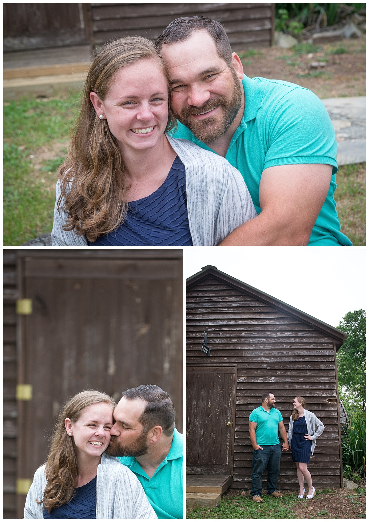 Barn outdoor engagement session