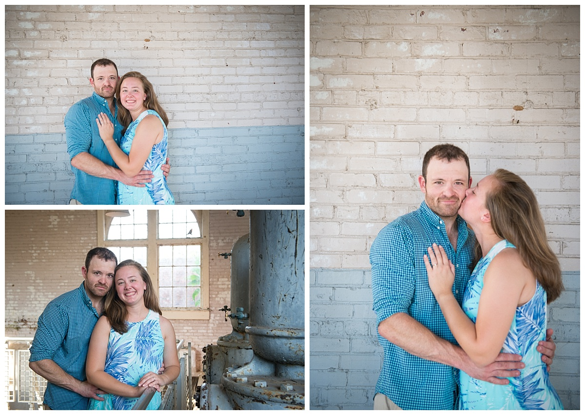 Blue engagement photo outfits