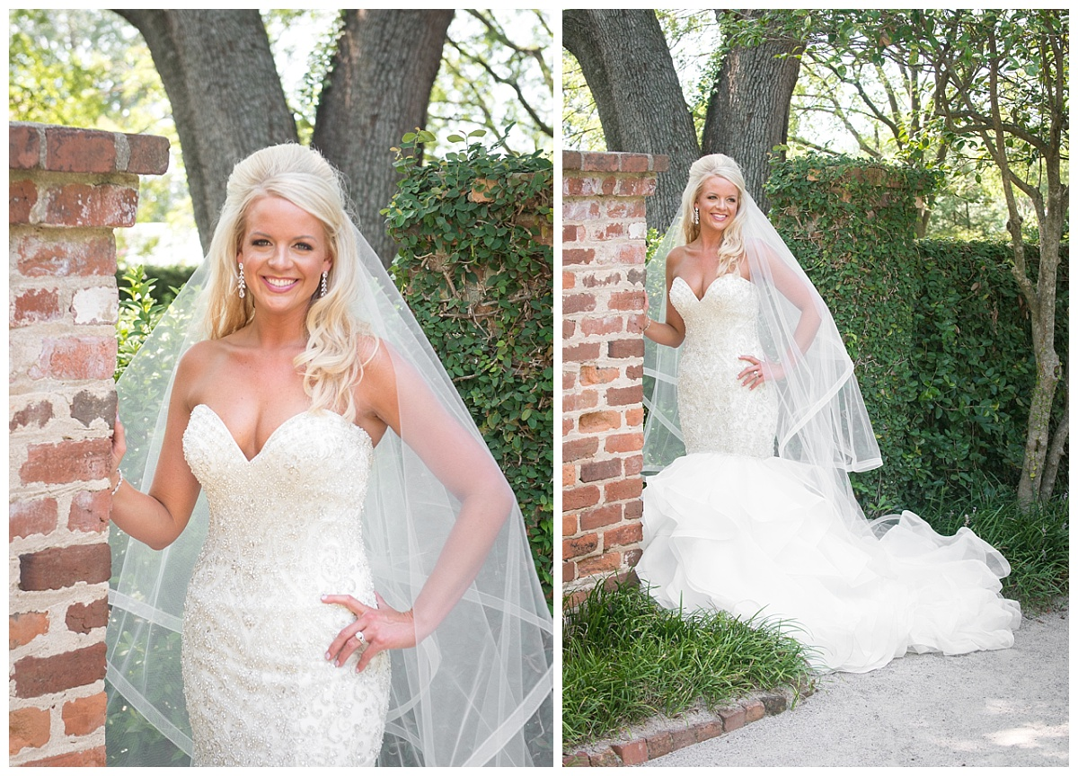 Lace House bridal portrait at gate