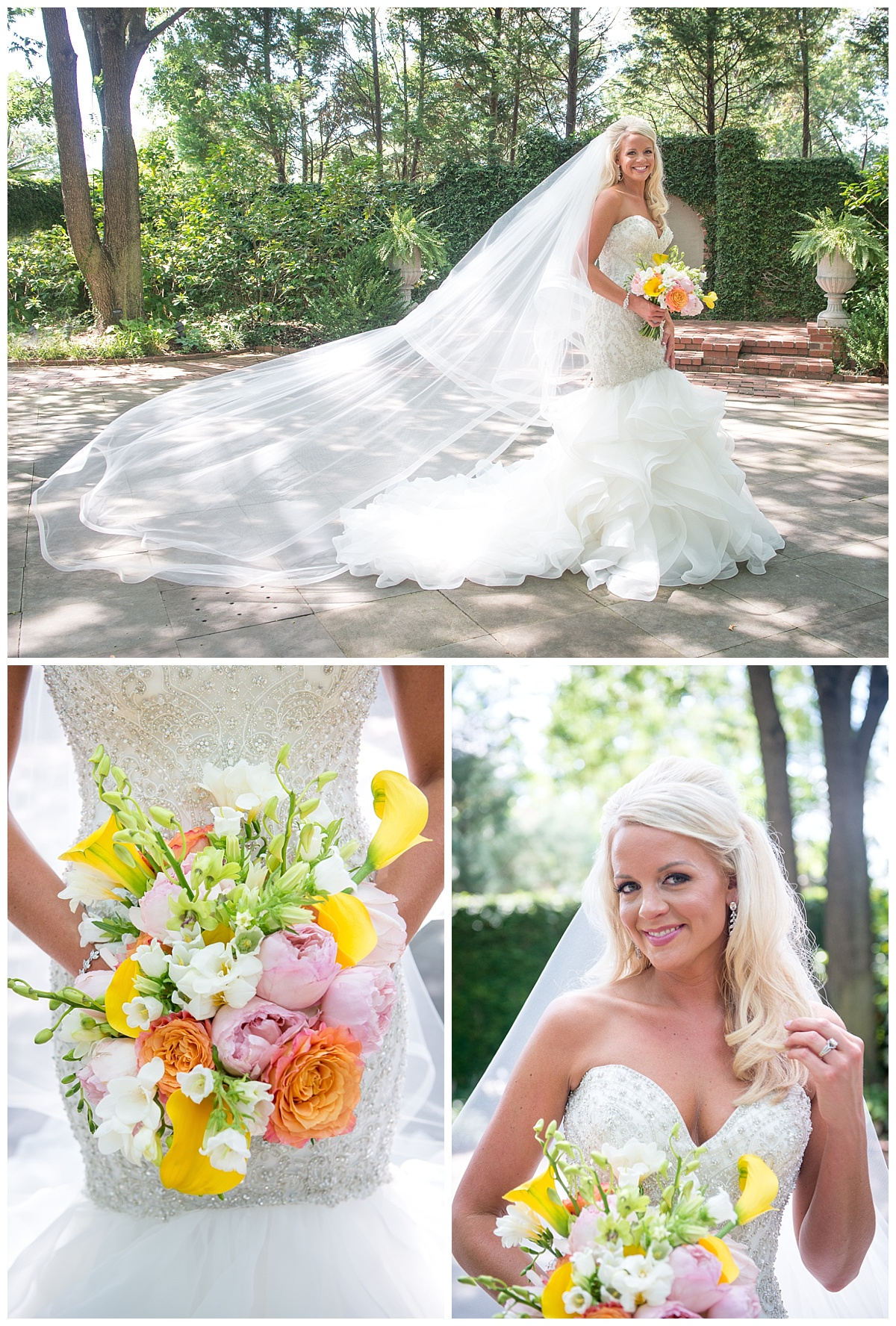 Governor's Mansion bridal portrait