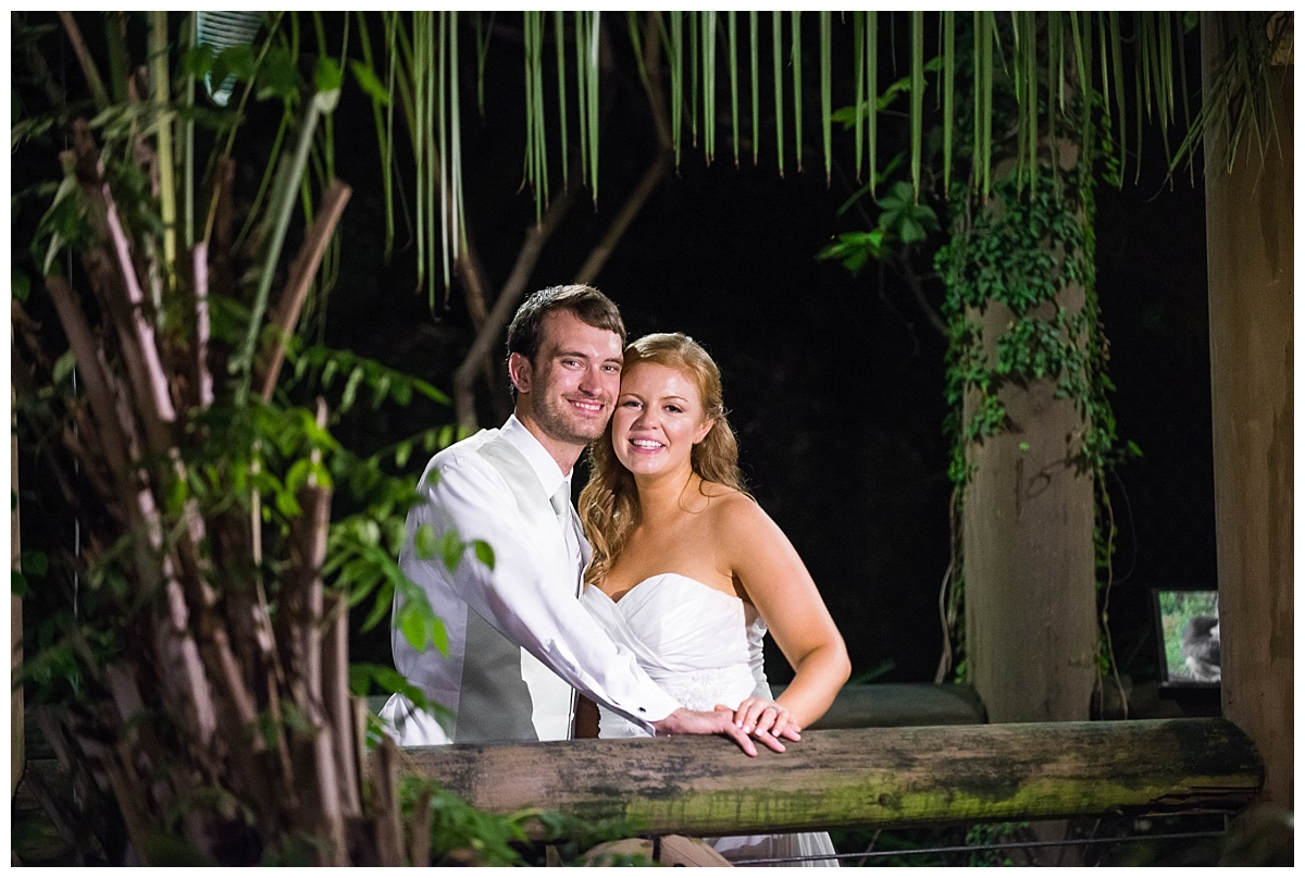 Riverbanks zoo wedding portrait