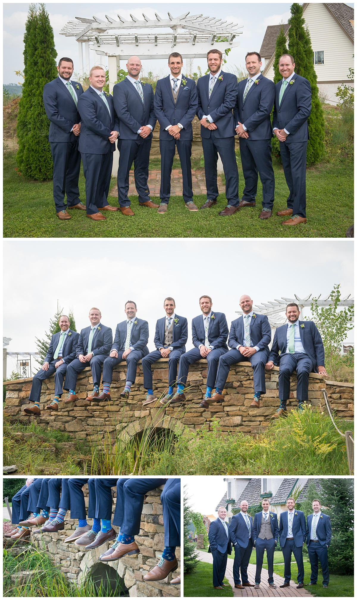 Groomsmen with custom socks