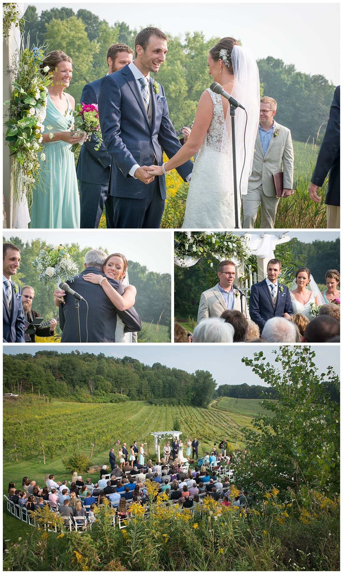 Cottage winery and vineyard ceremony