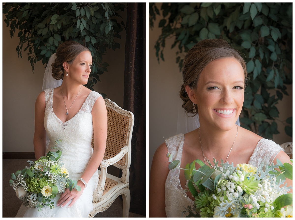 Bride window portrait