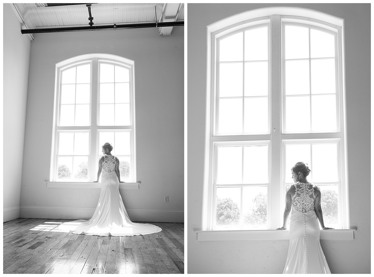 Bride at 701 Whaley window