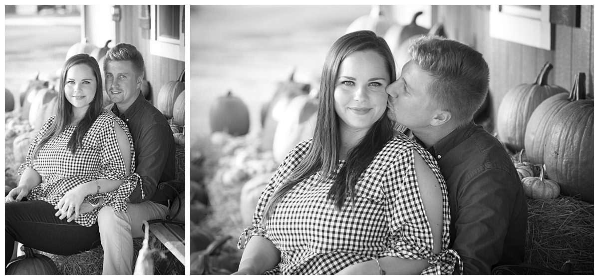 Black and white farm engagements
