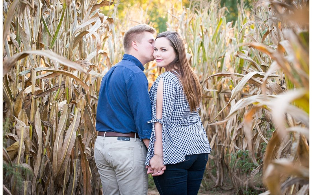 Cameron & Brandon- Pumpkin Patch Engagement Photos
