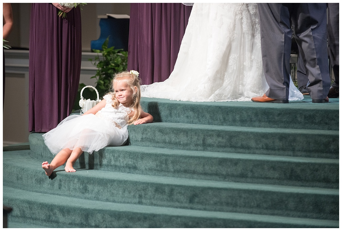 Flowergirl acting funny during ceremony