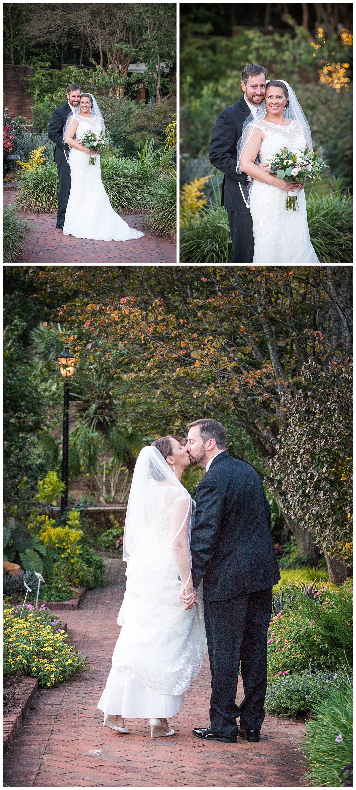 Bride and groom portraits at the riverbanks zoo