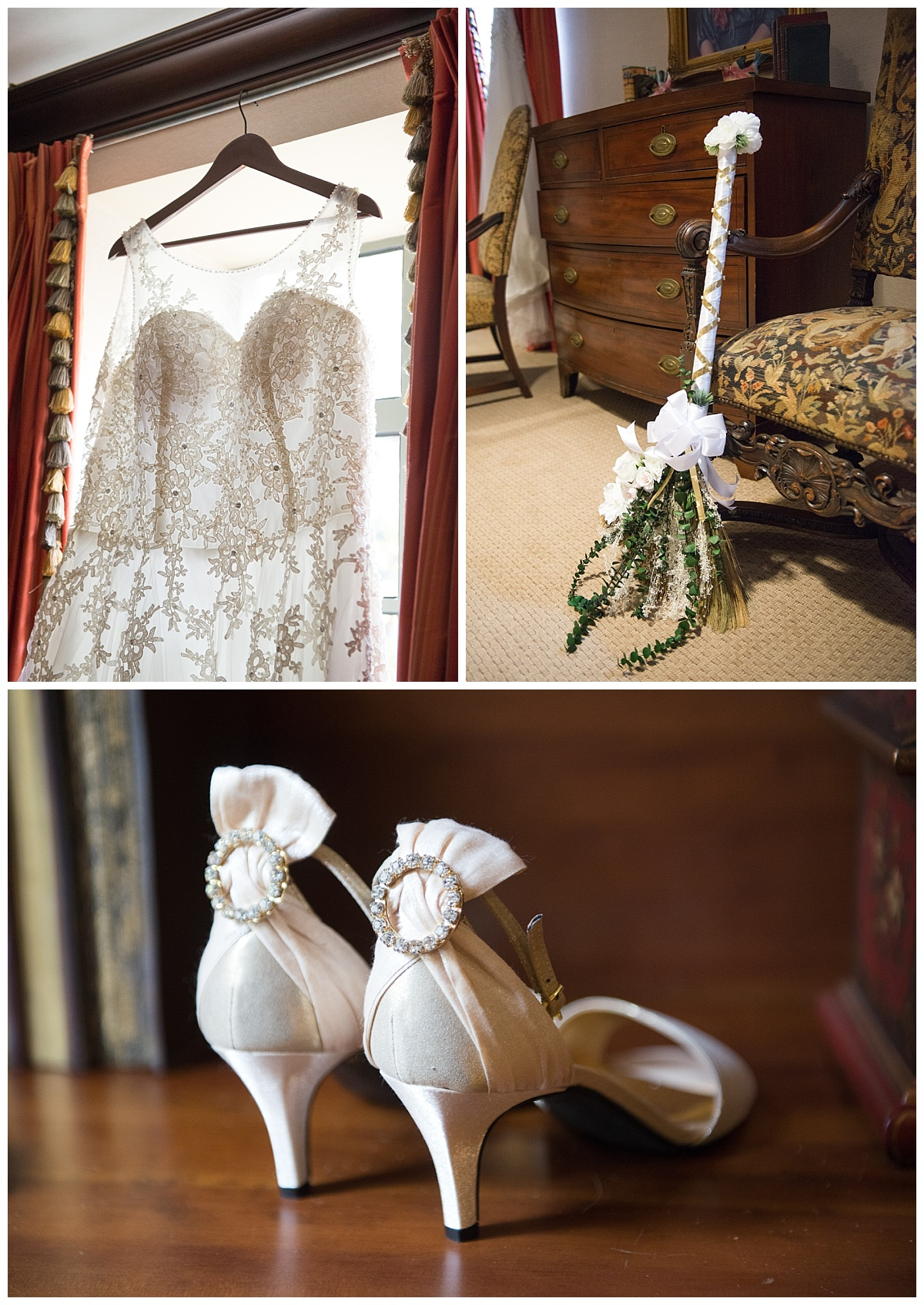 Bridal details and broom