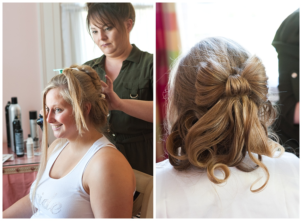 Bow wedding hair