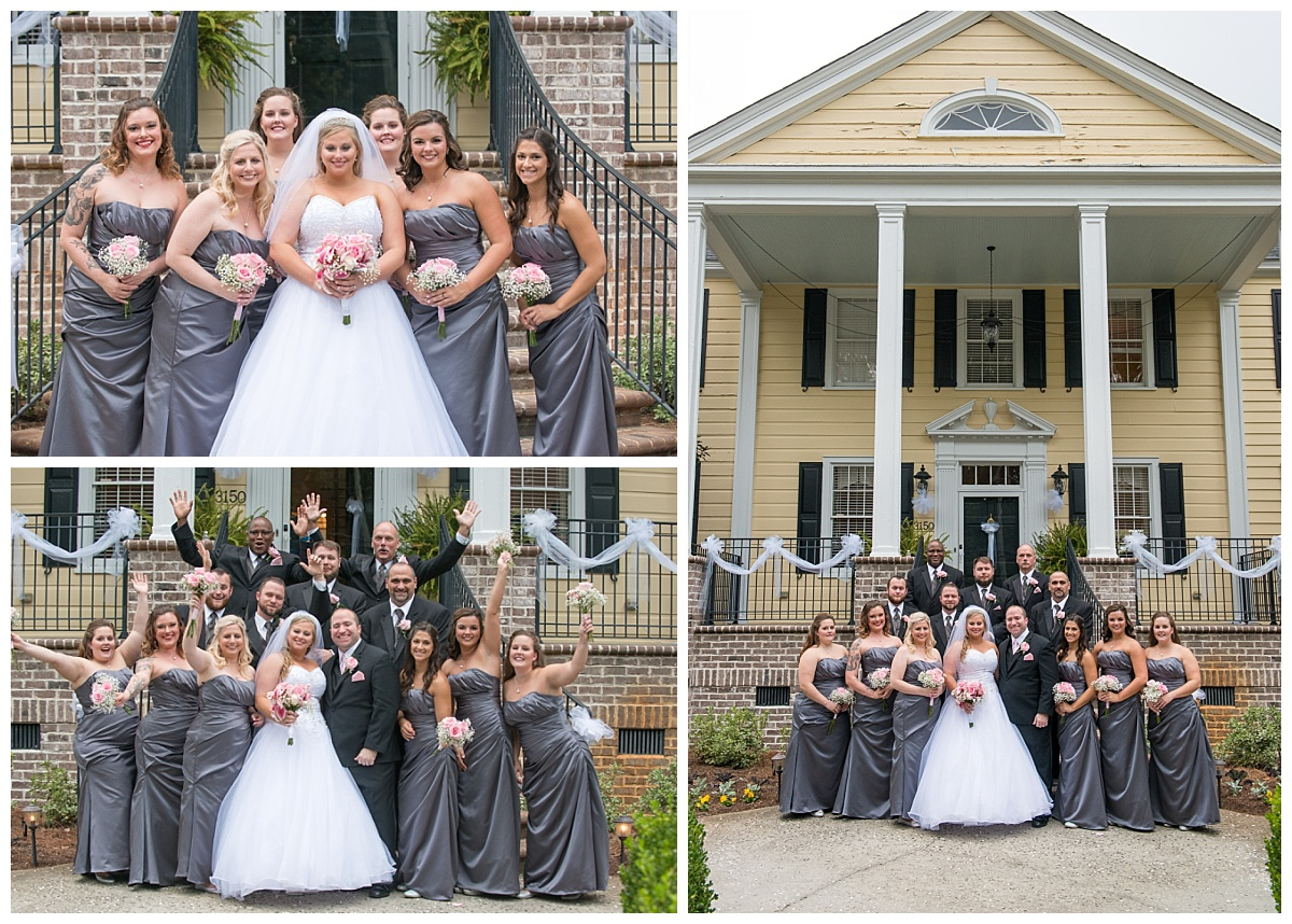 Bridal party at Springdale House