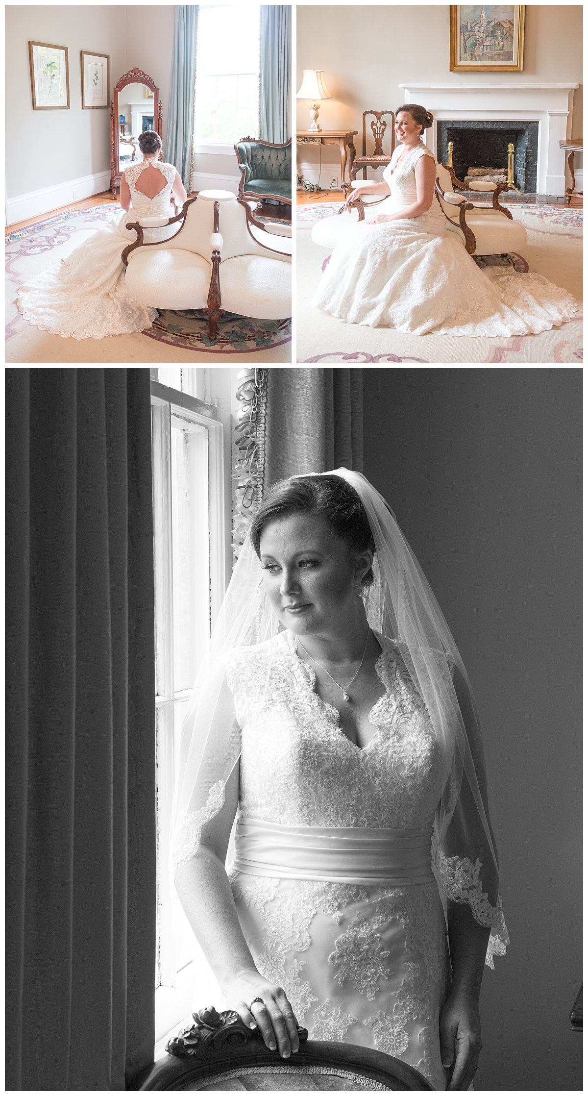 Lace House bridal portrait