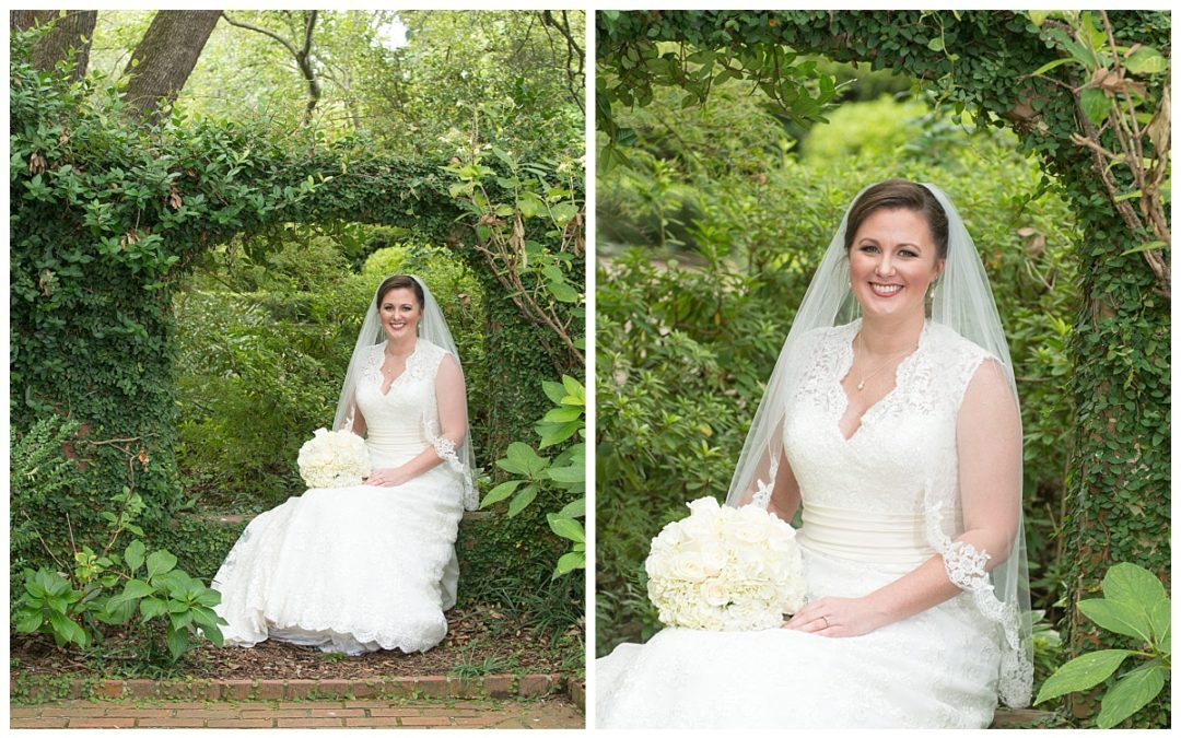 Stacey's Governor's Mansion Bridal Portrait Session