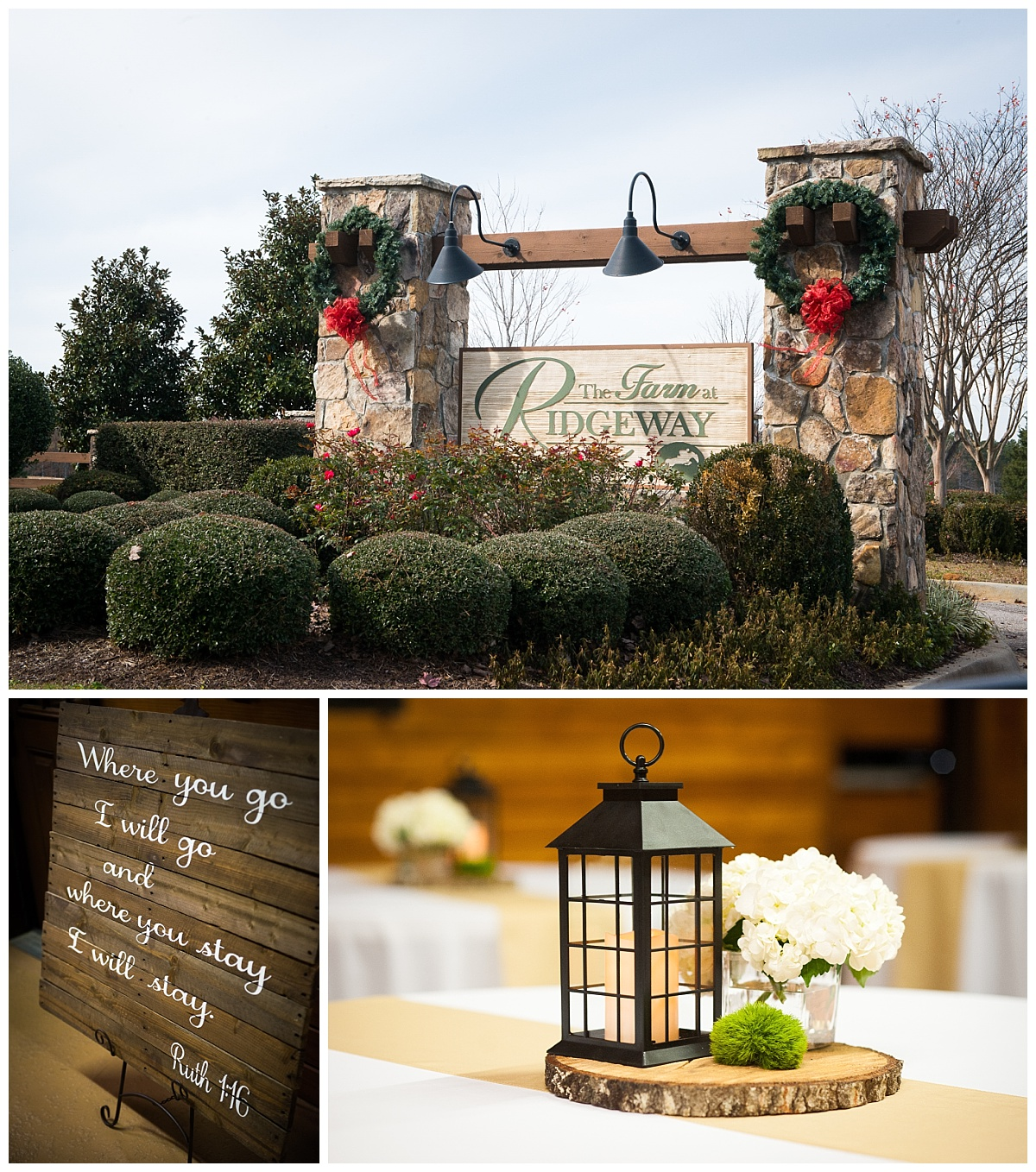 Farm at Ridgeway wedding details