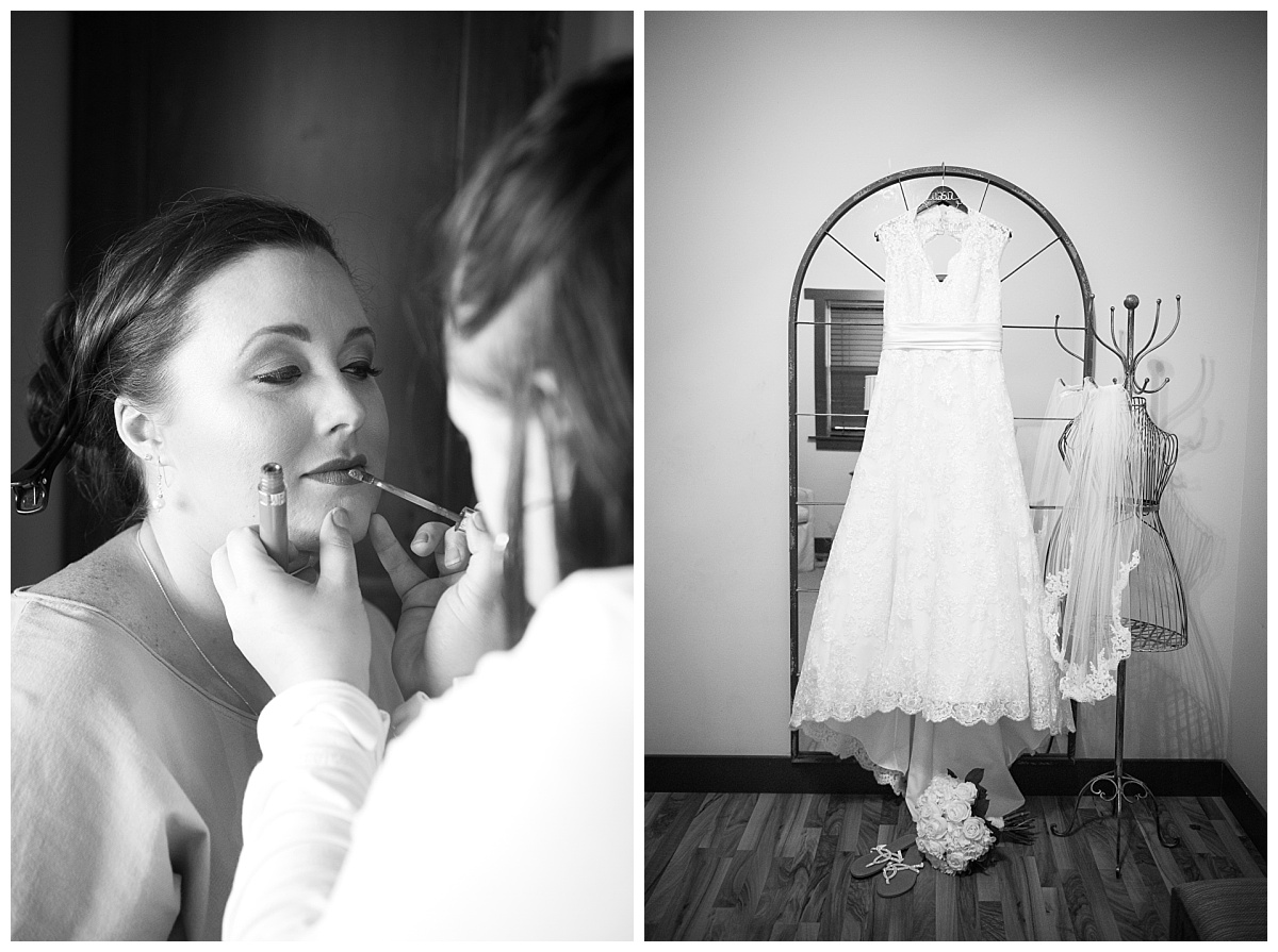 Rustic bridal getting ready
