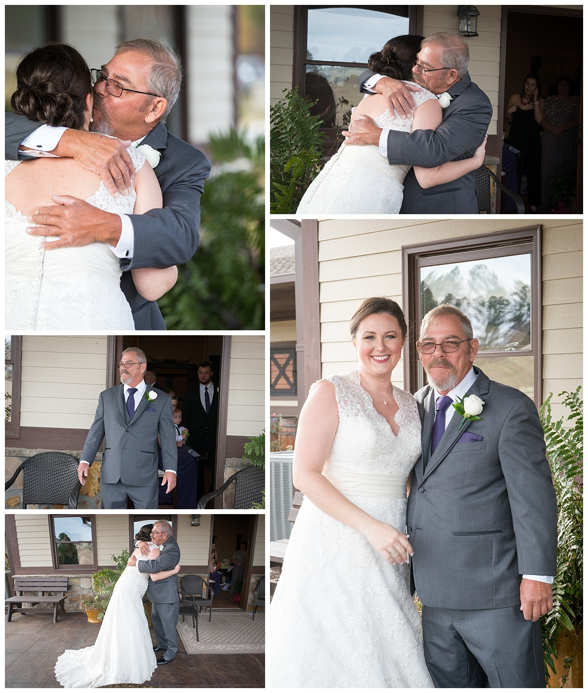 Brides first look with Dad