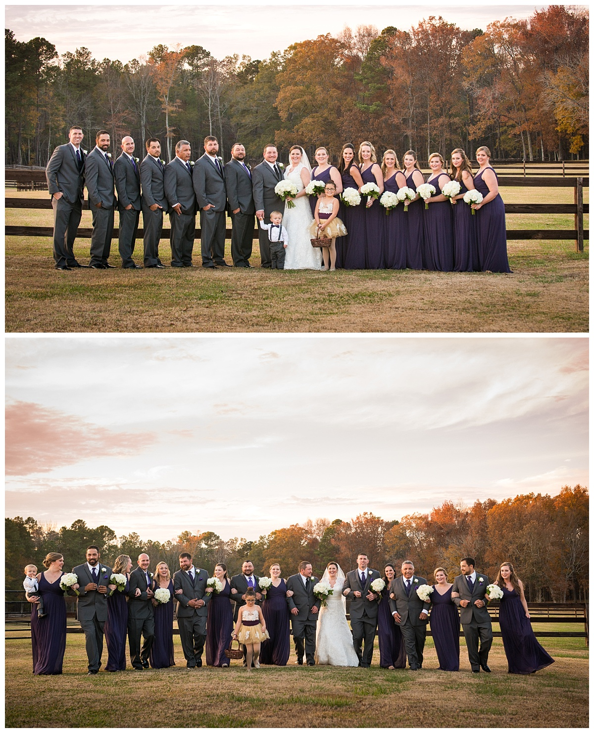 Bridal party photos on the Farm at Ridgeway