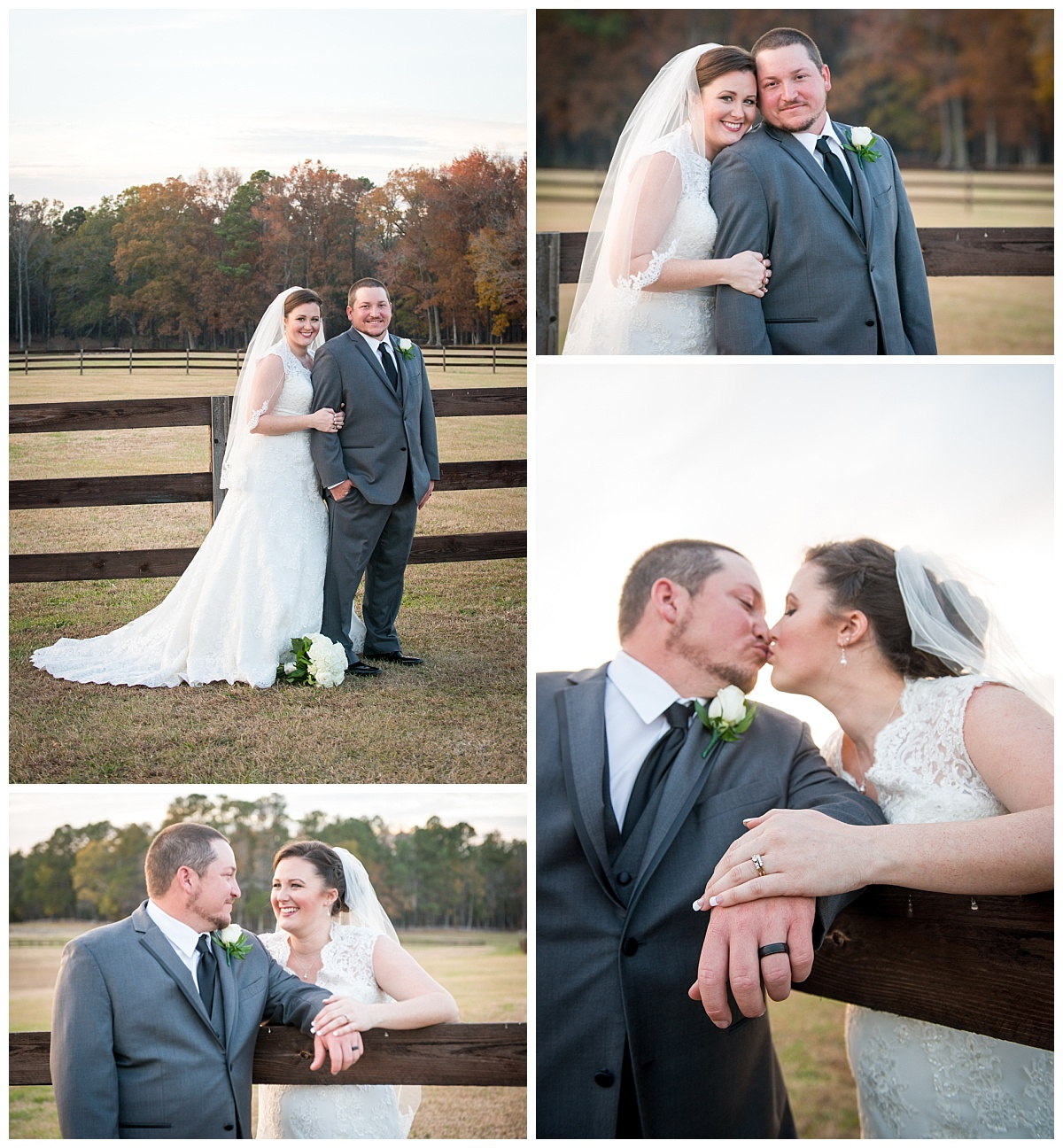 Farm at Ridgeway wedding portraits