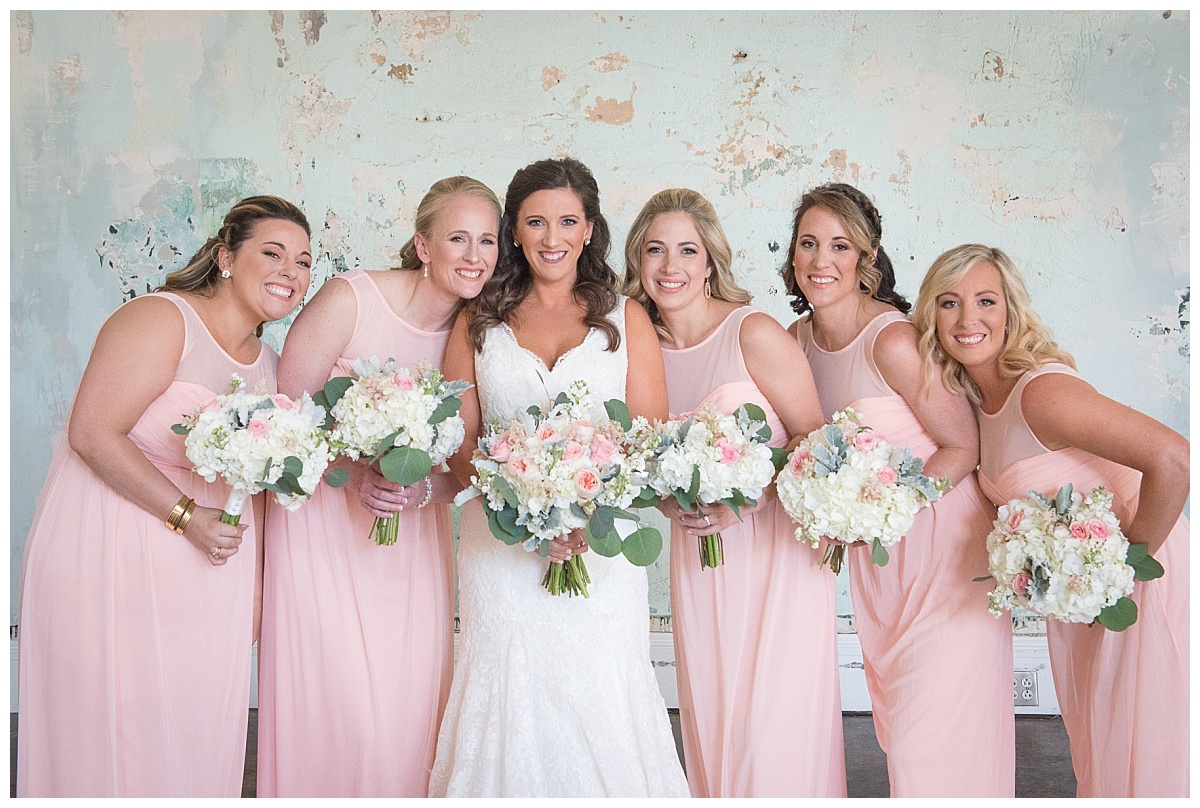 Pink bridesmaids at 701