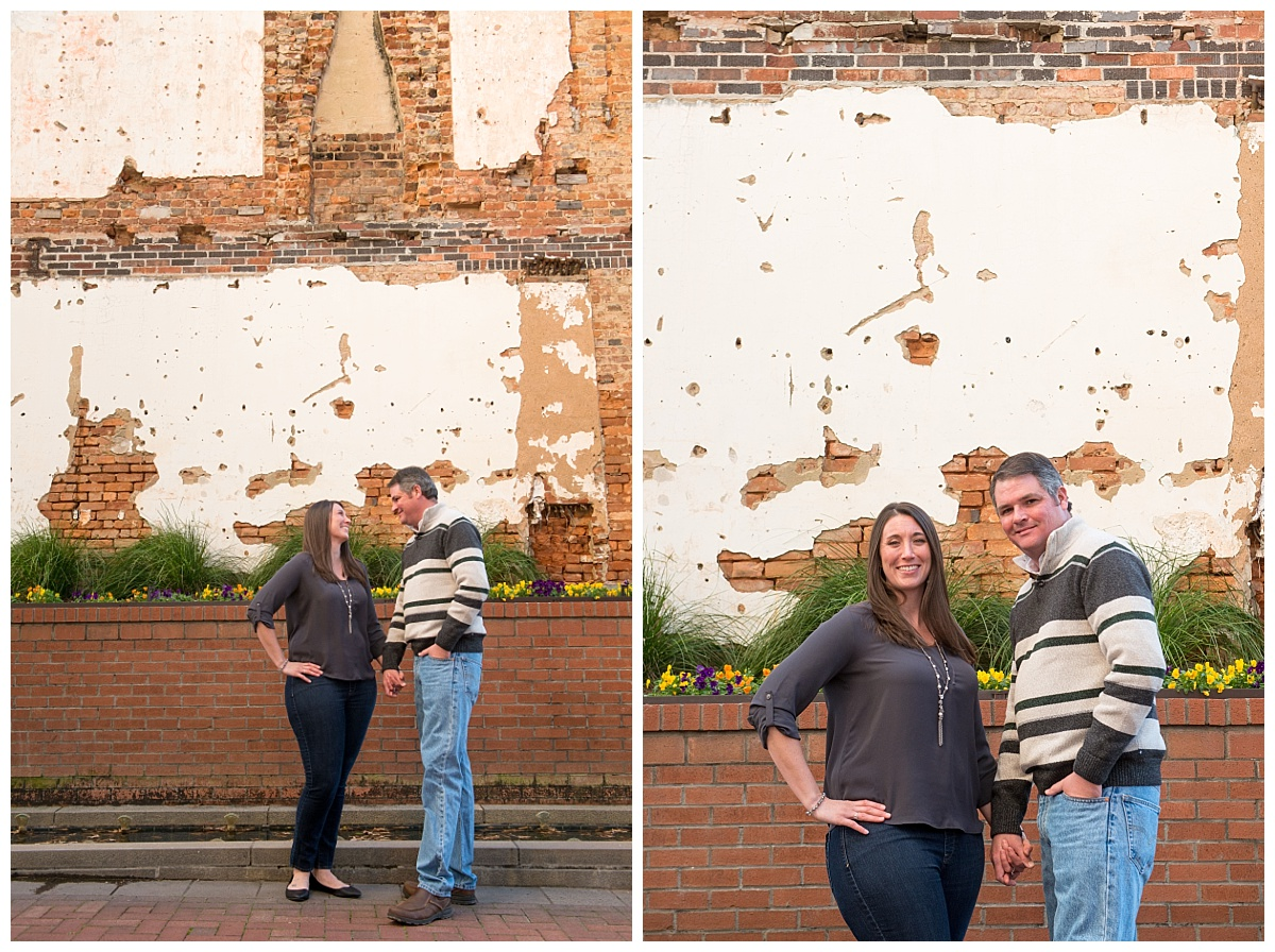 Columbia main street engagement photos