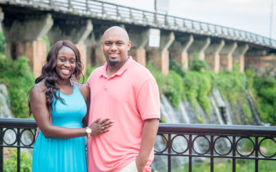 Jolicia and Tywan Riverwalk Engagement Session