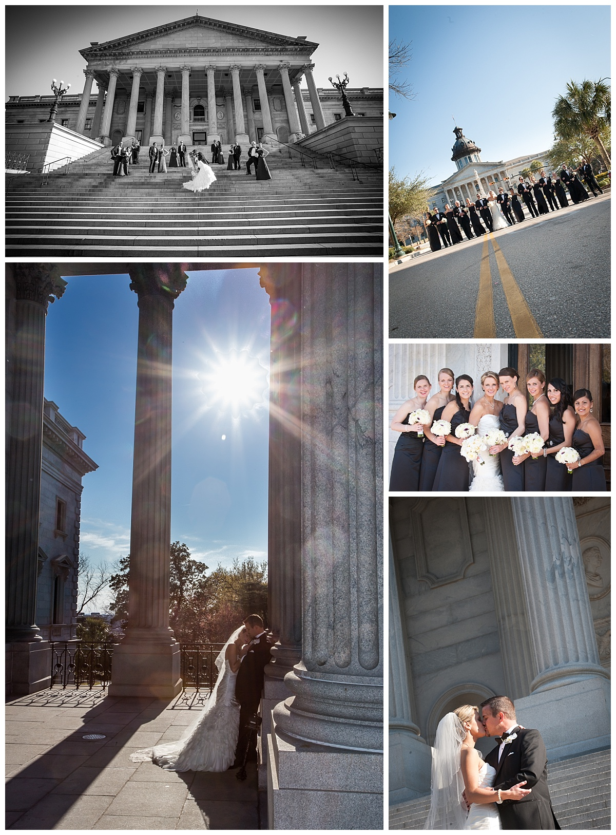 SC State house wedding portraits
