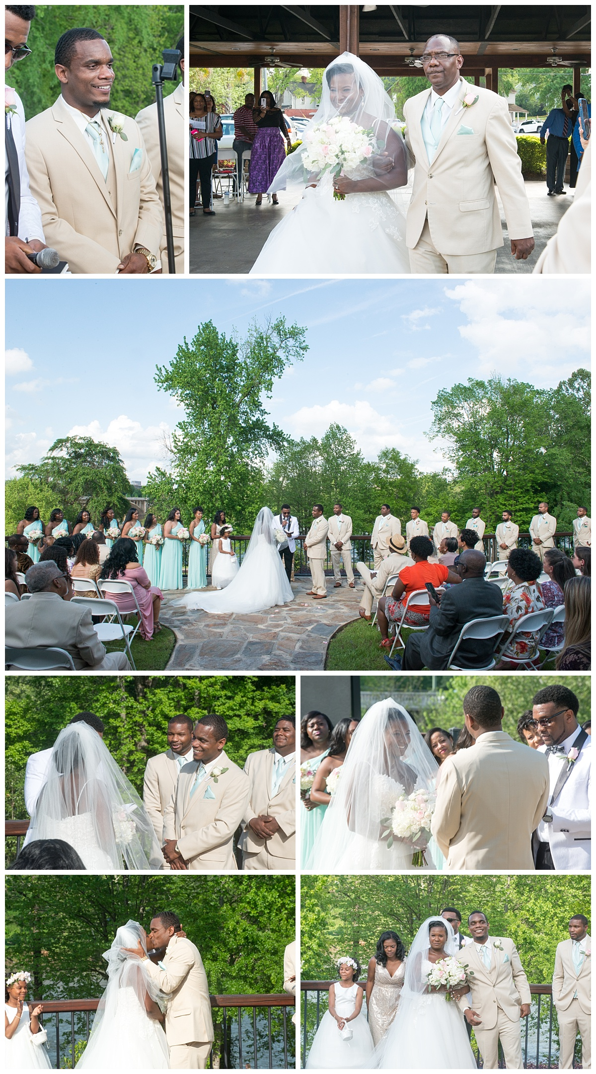 Stone River wedding ceremony on the river