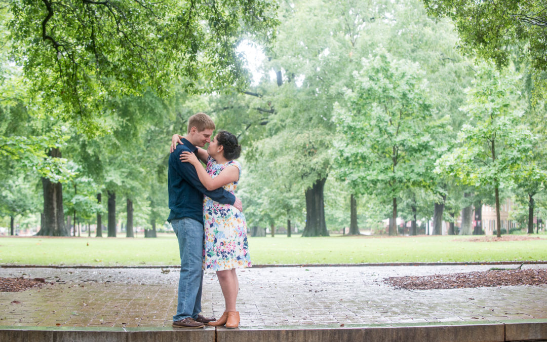Lydia & Anthony USC Horseshoe Engagement Session