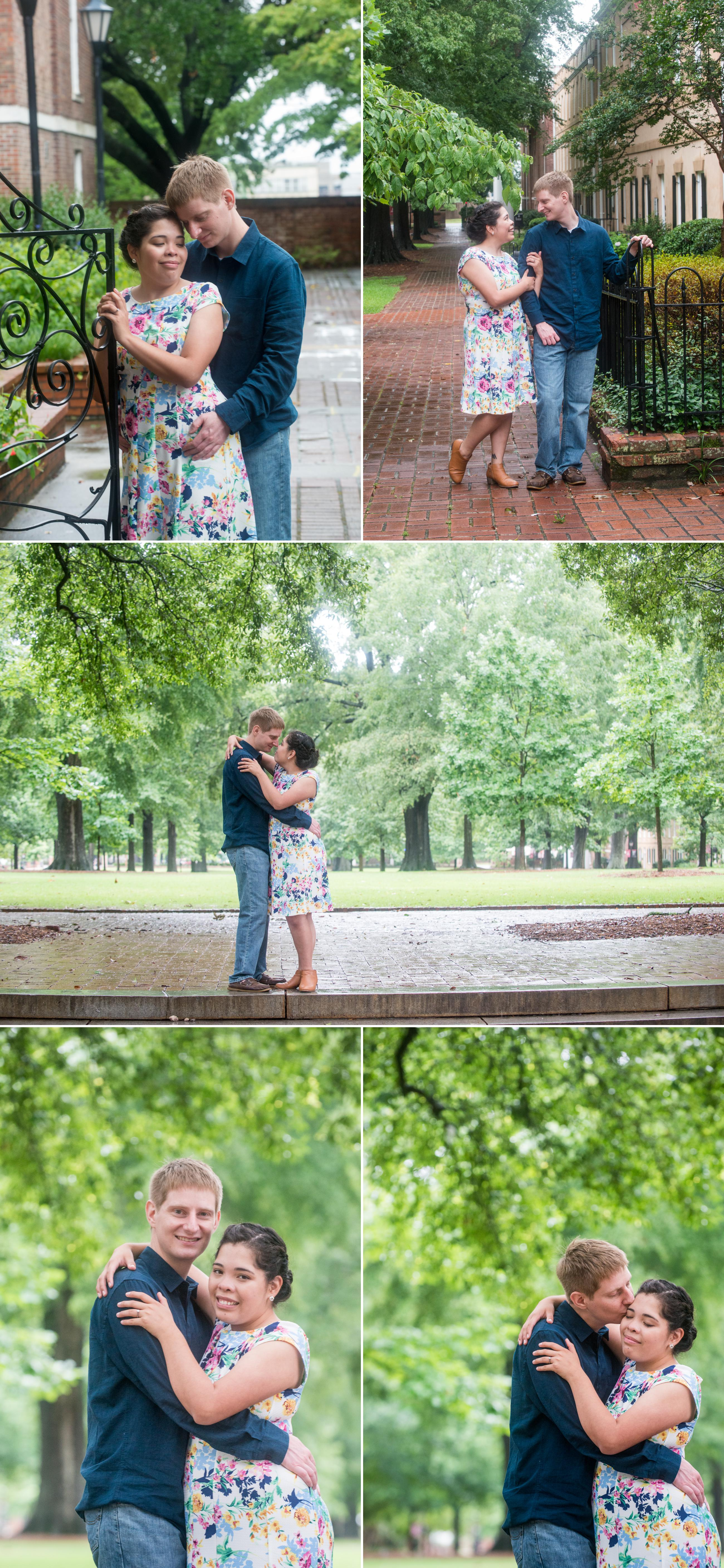 usc horseshoe columbia sc engagement session