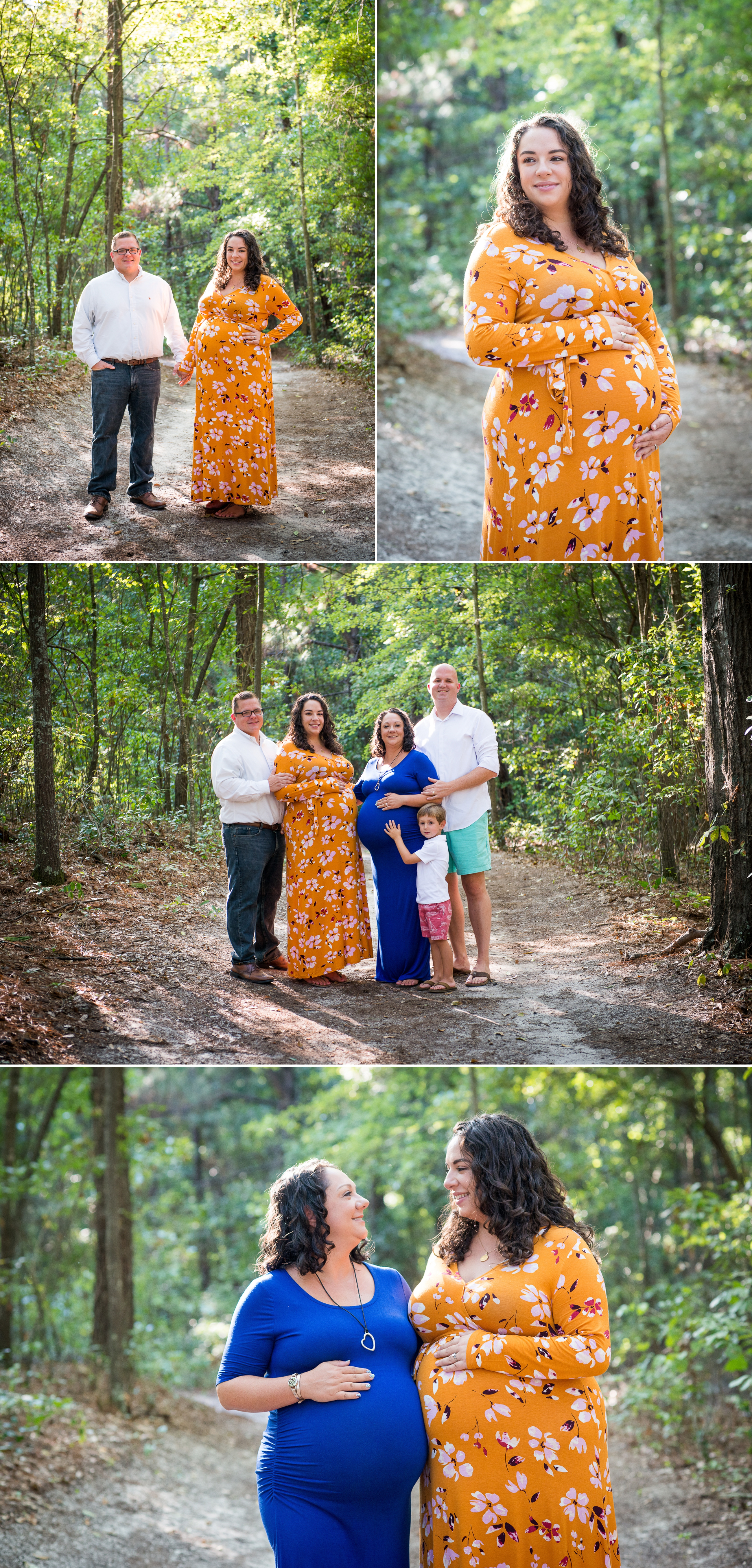 Sister maternity session in Columbia SC