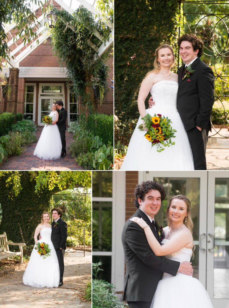 Riverbanks Zoo Garden wedding portrait